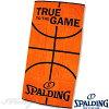 ベンチタオル70*140cmスポルディングバスケットボールスポーツ綿オレンジSPALDINGSAT130660