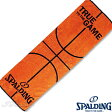 スポーツタオル34*110cm スポルディング ボールモチーフタオル バスケットボール 綿 オレンジ SPALDING SAT130290