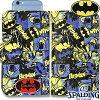 スポルディングスマートフォンケース手帳型正義の味方バットマンSPALDING11-002BM