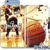 スポルディングバスケットボールスマートフォンケース手帳型フェイムSPALDING11-002HF