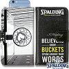 スポルディングバスケットボールスマートフォンケース手帳型トゥルービリーバーズSPALDING11-002TB