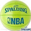 フリースタイルバスケットボール7号SPALDINGアンダーグラスライムグリーンエナメルボールスポルディング74-696J