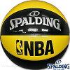 スポルディングフリースタイルバスケットボール7号アンダーグラスイエローブラックエナメルSPALDING74-974Z