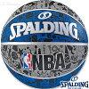 外用バスケットボール7号SPALDINGグラフィティブルーラバースポルディング83-176Z