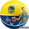 NBAステファンカリーウォリアーズプレイヤーボールバスケットボール7号ラバースポルディング83-343Z