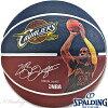 NBAレブロンジェームズキャバリアーズプレイヤーボールバスケットボール7号ラバースポルディング83-349Z
