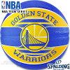 スポルディングバスケットボール7号2017NBAゴールデンステイトウォリアーズラバーSPALDING83-515Z