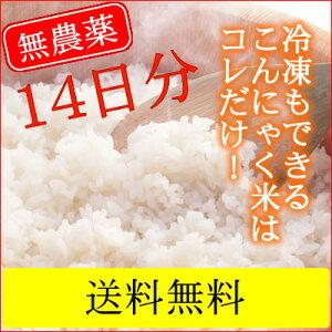無農薬乾燥こんにゃく米14袋(2週間分)。こんにゃくごはん こんにゃくダイエット米ご飯 糖質制...