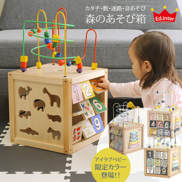 エド・インター森のあそび箱ed.interおうち時間木のおもちゃ型はめパズル森の遊び箱知育玩具赤ちゃん1歳1歳半2歳楽器木琴おも