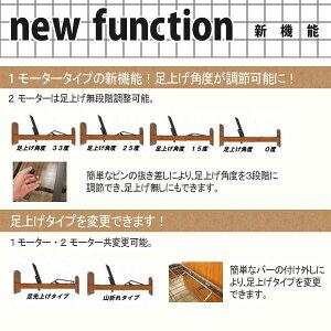 【送料無料】電動リクライニングベッドレーベンFTST2MO(テスリ付)CNCウレタンマットレス付き