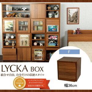 キューブボックスフラップ扉扉付きダークブラウン収納ボックスLYCKABOX(リュカボックス)北欧キューブボックス扉本棚本立て収納シェルフ棚収納boxシンプルCUBEBOXキューブボックス送料無料