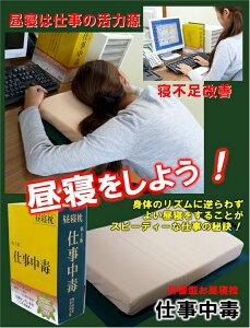 「昼休みにこそ昼寝をしよう」[代引不可]辞書型お昼寝枕「仕事中毒」