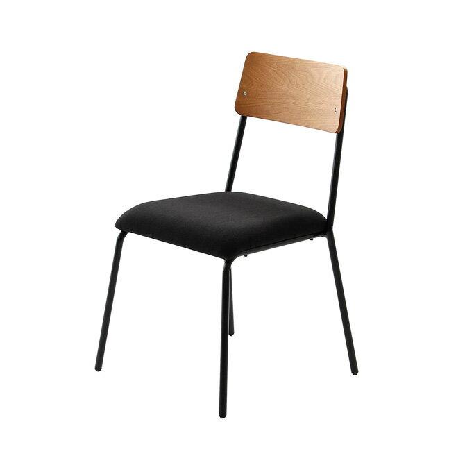 チェア チェアー ダイニングチェア 1脚 天然木 ウォールナット スチール ヴィンテージ 北欧風 レトロ スタッキングチェア カフェチェアー アイアン 椅子 イス いす 食卓椅子 【送料無料】【時間指定不可】【代引不可】