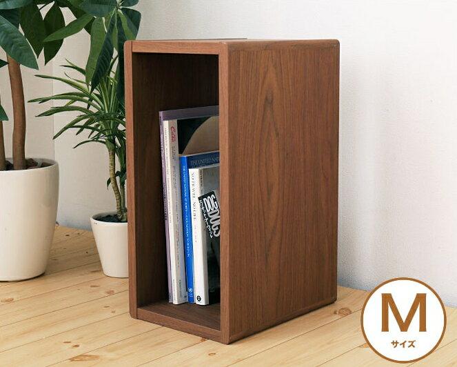 ラック オープンラック M 幅42×奥行27×高さ20cm 木製 ブラウン ナチュラル シンプル モダン 北欧 マガジンラック 収納家具