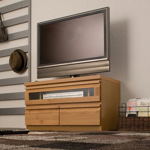 テレビ台 幅80cm ナチュラル TE-0022 TV台 天然木製 アルダーコーナーTVユニットシリーズ/同じシリ...