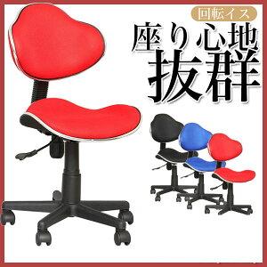 パソコンチェアデスクチェアOAチェアブルーブラックレッドアームレス回転椅子キューズ