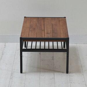 センターテーブル幅90cmアイアンブラックアイアンフレーム×オイル仕上げパイン無垢材ヴィンテージ家具「アトムシリーズ」リビングテーブル座卓ローテーブルローデスク棚リビングテーブルセンターテーブルダイニングテーブル