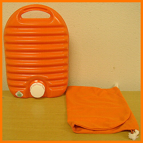 Plastic hot water bottle bag with 05P24jul13fs3gm
