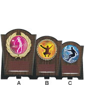 WINCAL5742A楯は樹脂製レリーフはアクリル製ダイレクトプリント文字彫刻代金無料