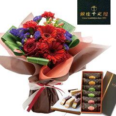 銀座 千疋屋 ミルフィーユ & 赤い花束