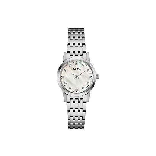 腕時計, レディース腕時計  BULOVA 96P175 Bulova Classic Quartz Ladies Watch, Stainless Steel Diamond , Silver-Tone (Model: 96P175)