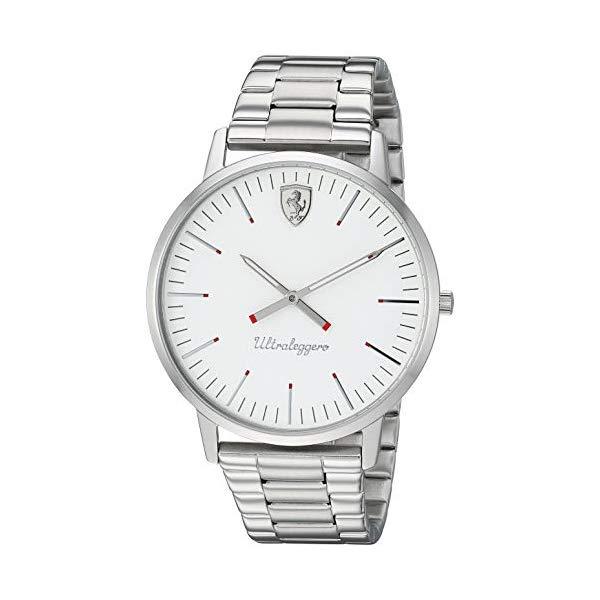 フェラーリ 腕時計 Ferrari 830562 ウォッチ メンズ 男性用 Ferrari Men's Ultraleggero Quartz Watch with Stainless-Steel Strap, Silver, 20 (Model: 0830562)
