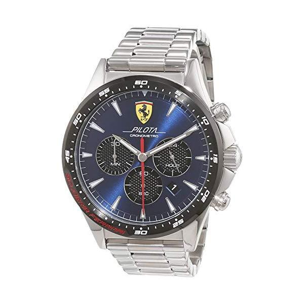 フェラーリ 腕時計 Ferrari 830598 ウォッチ スクーデリア メンズ 男性用 Scuderia Ferrari Mens Chronograph Quartz Watch with Stainless Steel Strap 0830598