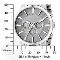 【Fossilフォッシルクロノグラフメンズ腕時計FS4359StainlessSteelBraceletSilverAnalogDialChronographWatch】