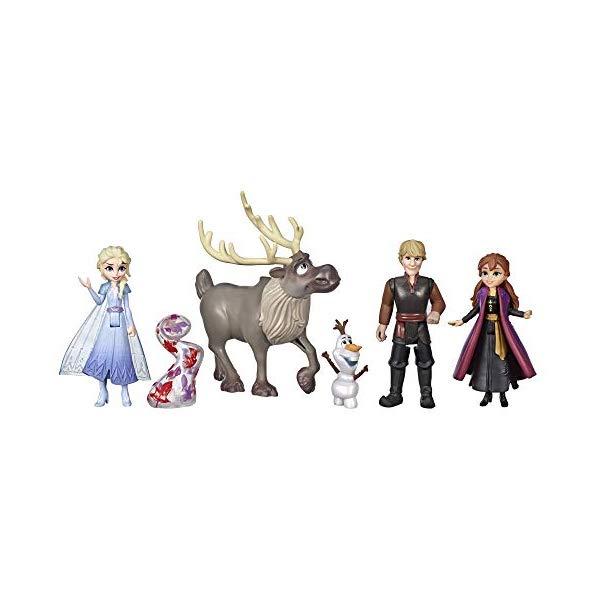 コレクション, フィギュア 2 Disney Frozen Adventure Collection, 5 Small Dolls from Frozen 2, Anna, Elsa, Kristoff, Sven, Olaf, Gale Accessory