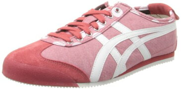 Onitsuka Tiger オニツカタイガー レディース スニーカー メキシコ66 Mexico 66 Lace-Up Fashion Sneaker,Red Chambray/White