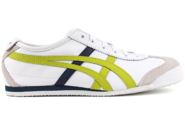 Onitsuka Tiger オニツカタイガー レディース スニーカー メキシコ66 Mexico 66 Lace-Up Fashion Sneaker,White/Lime Green