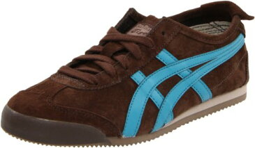 Onitsuka Tiger オニツカタイガー レディース スニーカー メキシコ66 Mexico 66 Sneaker,Brown/Blue Coral