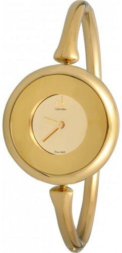 Calvin Klein カルバンクライン レディース腕時計 Quartz Sing Collection Gold Dial Women