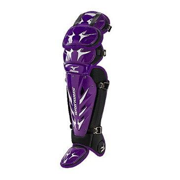 USAミズノ 最新仕様 サムライG3 硬式用 キャッチャーレガーズ パープル/ブラック Mizuno Samurai G3 15.5-Inch Shin Guards (Purple/Black)