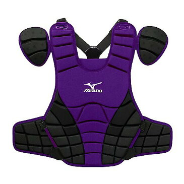 USAミズノ 2012最新仕様 サムライ G3 硬式プロテクター パープル/ブラック Mizuno Samurai G3 15-Inch Chest Protector (Purple/Black)