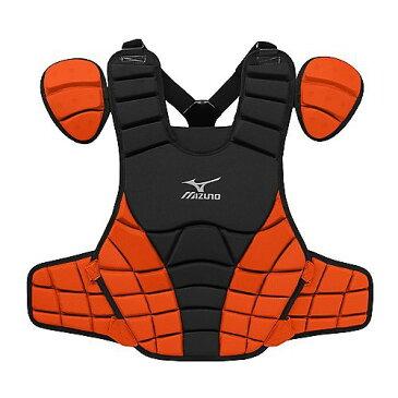USAミズノ 2012最新仕様 サムライ G3 硬式プロテクター ブラック/オレンジ Mizuno Samurai G3 16-Inch Chest Protector (Black/Orange)