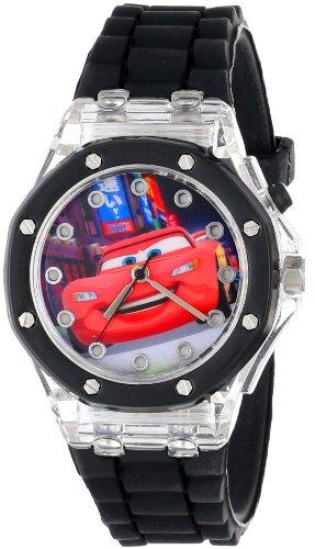 ディズニー 腕時計 キッズ 時計 子供用 カーズ マックィーン Disney Kids' CZ1066 Watch with Black Rubber Band