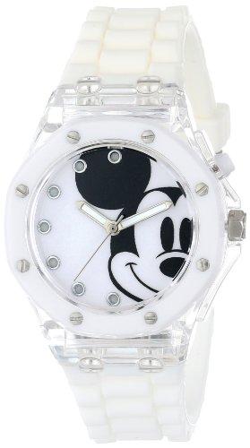 ディズニー 腕時計 キッズ 時計 子供用 ミッキー Disney Kids' MK1273 Analog Display Analog Quartz White Watch