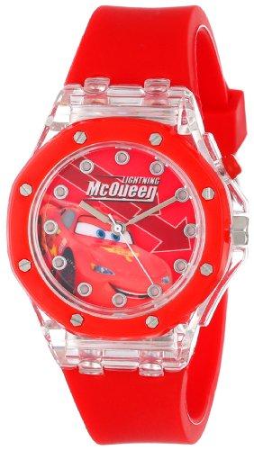ディズニー 腕時計 キッズ 時計 子供用 カーズ マックィーン Disney Kids' CZ1070 Analog Display Analog Quartz Red Watch