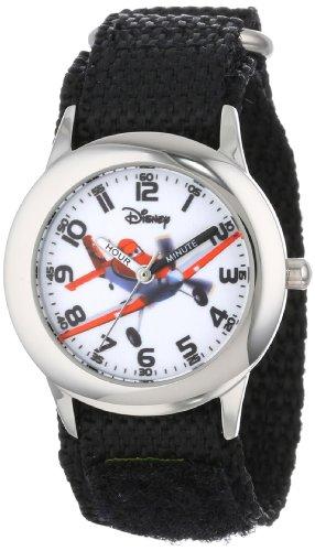 """ディズニー 腕時計 キッズ 時計 子供用 プレーンズ ダスティ Disney Kids' W000884 """"Time Teacher"""" Stainless Steel Watch"""