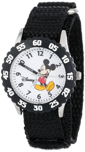 ディズニー 腕時計 キッズ 時計 子供用 ミッキー Disney Kids' W000001 Mickey Mouse Stainless Steel Time Teacher Watch