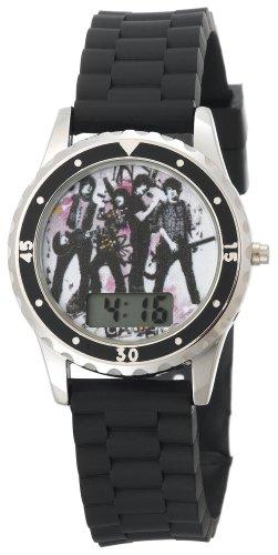 ディズニー 腕時計 キッズ 時計 子供用 キャプテン ロック Camp Rock Kids' CR1000 Black Rubber Strap Watch