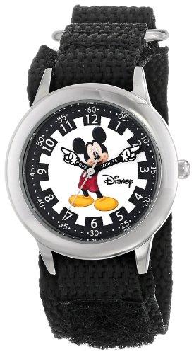 ディズニー 腕時計 キッズ 時計 子供用 ミッキー Disney Kids' W000239 Mickey Mouse Stainless Steel Time Teacher Watch with Moving Hands