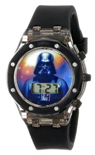 ディズニー 腕時計 キッズ 時計 子供用 スターウォーズ ダースベイダー Star Wars Kids' DAR3519 Watch with Black Rubber Band