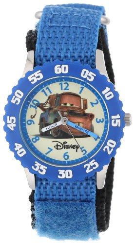 """ディズニー 腕時計 キッズ 時計 子供用 カーズ メーター Disney Kids' W000083 """"Cars"""" Stainless Steel Time Teacher Watch"""