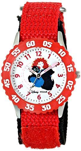 ディズニー 腕時計 キッズ 時計 子供用 メリダとおそろしの森 メリダ Disney Kids' W000261 Brave Stainless Steel Time Teacher Watch