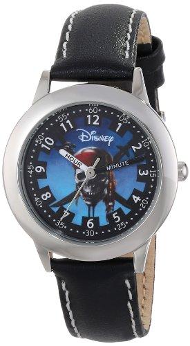 """ディズニー 腕時計 キッズ 時計 子供用 パイレーツオブカリビアン Disney Kids' W000155 """"Pirates of the Caribbean"""" Stainless Steel Time Teacher Watch"""