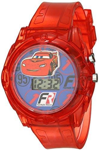 ディズニー 腕時計 キッズ 時計 子供用 カーズ マックィーン Disney Kids' CRSKD493 Cars Digital Display Quartz Red Watch