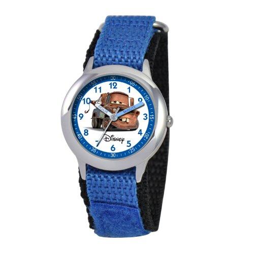 ディズニー 腕時計 キッズ 時計 子供用 カーズ メーター Disney Kids' W000094 Cars Stainless Steel Time Teacher Watch