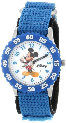 ディズニー 腕時計 キッズ 時計 子供用 ミッキー Disney Kids' W000002 Mickey Mouse Stainless Steel Time Teacher Watch